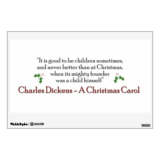 A Christmas Carol Quotes: A Christmas Carol Quote Decal Wall Decals
