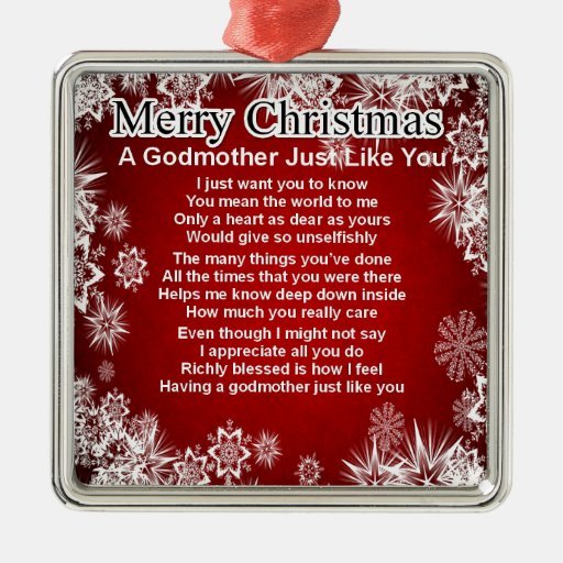 A godmother poem - christmas design ornaments | Zazzle