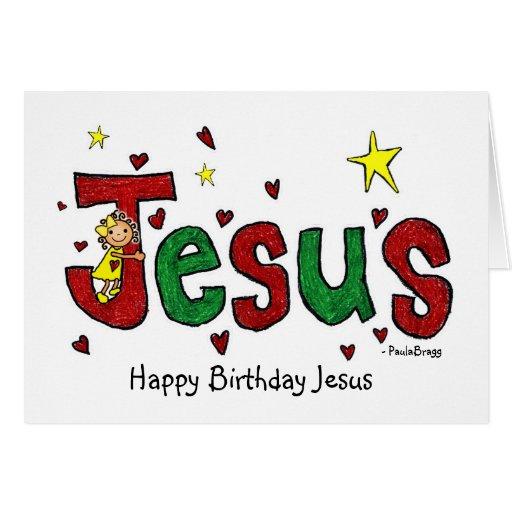 A Happy Birthday Jesus Hug From Little Marci Card
