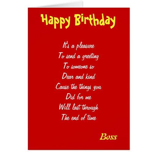 A Kind Boss Birthday Cards