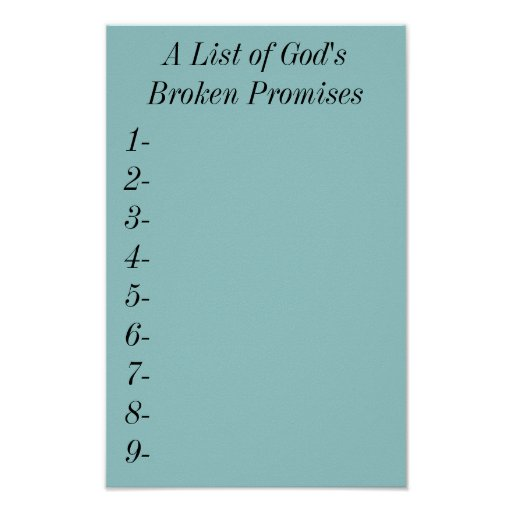 Promises are meant to be broken essay