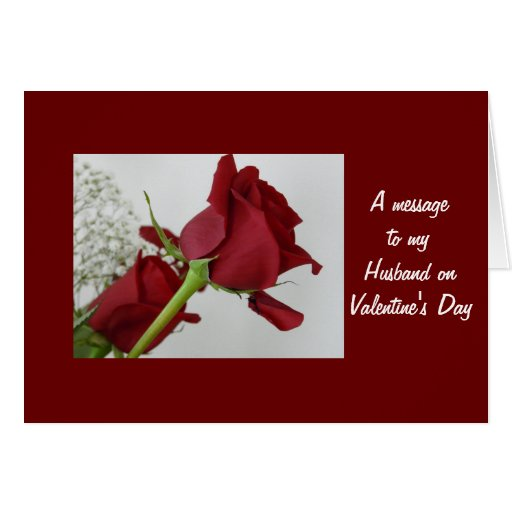 a message to my husband valentine's day card  zazzle