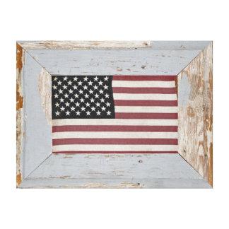 Vintage American Flag Wrapped Canvas Prints Zazzle