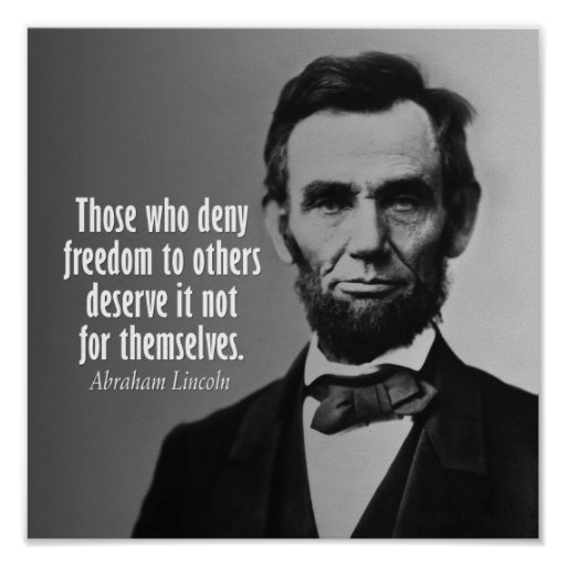 Abraham Lincoln Famous Quotes: Abraham Lincoln Quote On Slavery Print