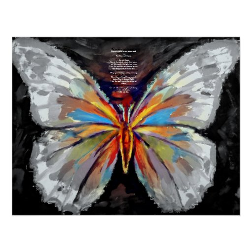 Abstract Butterfly Painting - Art Prints | Zazzle
