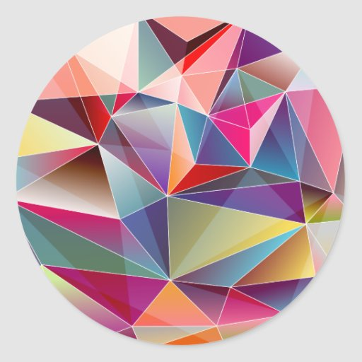 Abstract Colorful Polygon Geometric Triangles Classic ...