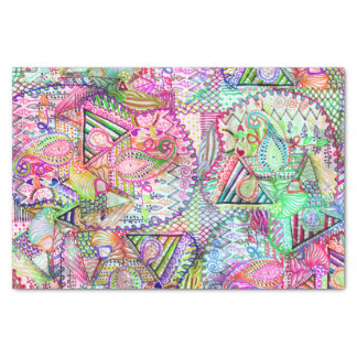Neon theme Tissue Paper - Pink Polka (Pack of 20)