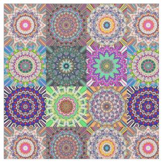 mandala pattern fabric zazzle. Black Bedroom Furniture Sets. Home Design Ideas
