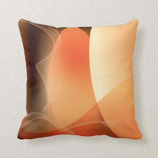 Abstract Orange And Brown Pattern Throw Pillow Zazzle