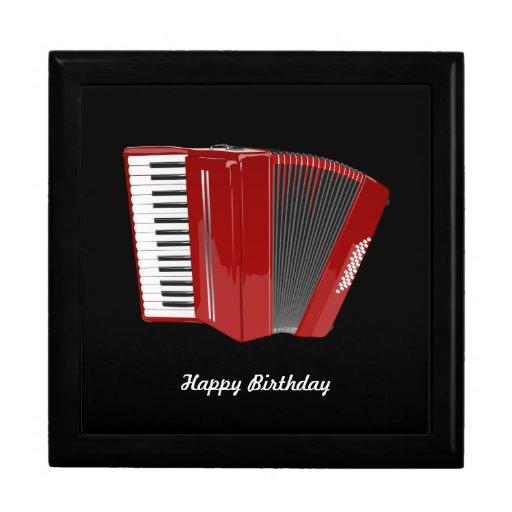 "Accordion: ""Happy Birthday"" The Red Accordion Keepsake Box"