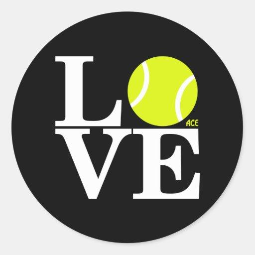 Ace Tennis Love Classic Round Sticker Zazzle