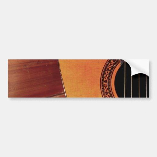 acoustic guitar bumper sticker zazzle. Black Bedroom Furniture Sets. Home Design Ideas