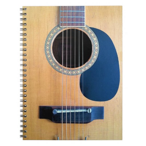 acoustic guitar dreadnought 6 string note books zazzle. Black Bedroom Furniture Sets. Home Design Ideas