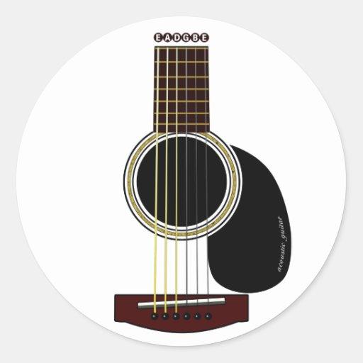 acoustic guitar sticker zazzle. Black Bedroom Furniture Sets. Home Design Ideas