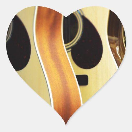 acoustic guitars heart sticker zazzle. Black Bedroom Furniture Sets. Home Design Ideas