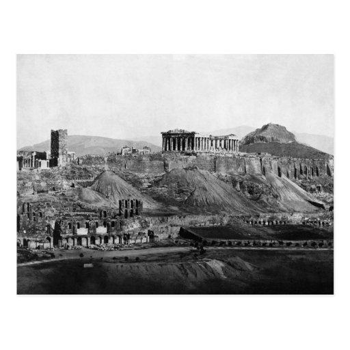 Acropolis ~ Acropolis Of Athens Greece 1865 Postcard