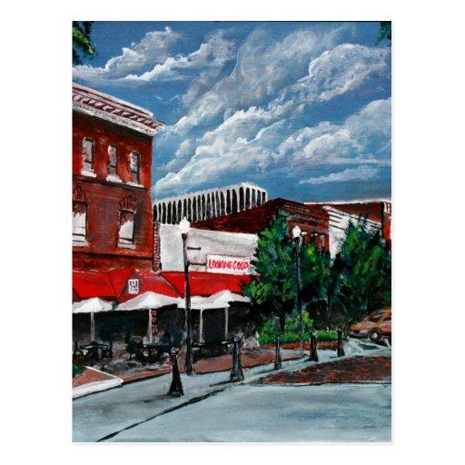 Painting Company Columbus Ohio: Acrylic Cityscape Painting Modern Art Columbus GA Postcard