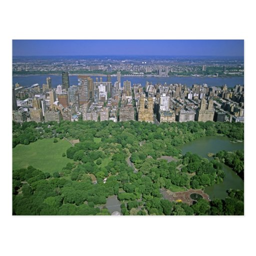 Centeral Park: Aerial View Of Central Park And The West Side Postcard