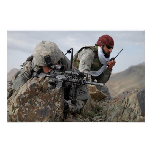 Afghan Military Soldier Cool Guys Posters | Zazzle