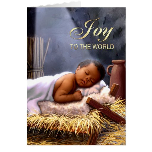 African American Baby Jesus Christmas Cards Zazzle