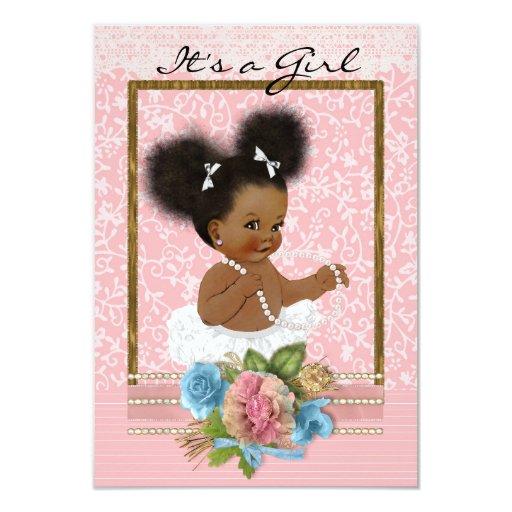 African American Baby Shower Invitation Zazzle