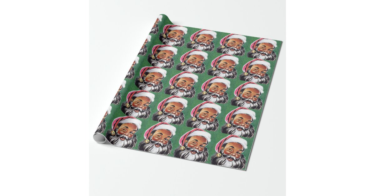African American Black Santa Claus Christmas Wrapping