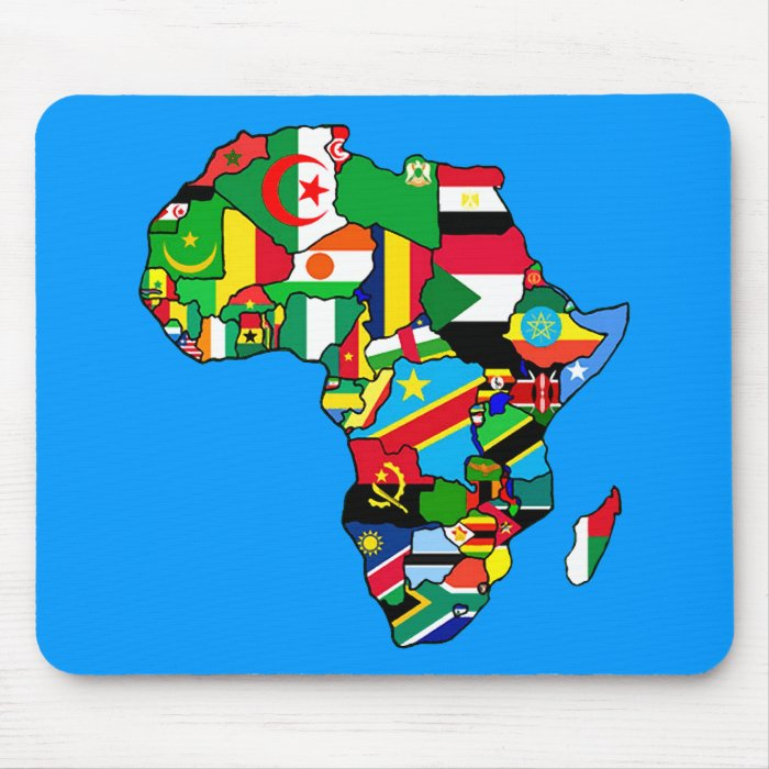 Map Of Africa With Flags.African Map Of Africa Flags Within Country Maps Mouse Pads On Popscreen