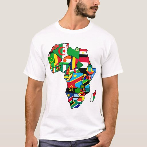 Christmas Gifts For Men South Africa: African Map Of Africa Flags Within Country Maps T-Shirt
