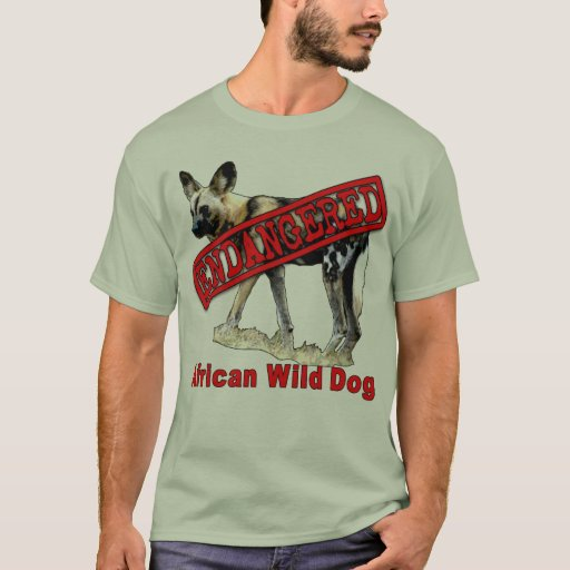 African Wild Dog Endangered Animal Products T Shirt Zazzle