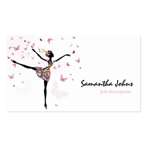 Afrocentric Dancer Ballerina Professional Stylist Business Cards