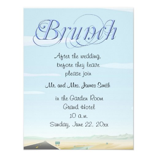 After The Wedding Party Invitations: After The Wedding Brunch Invitations
