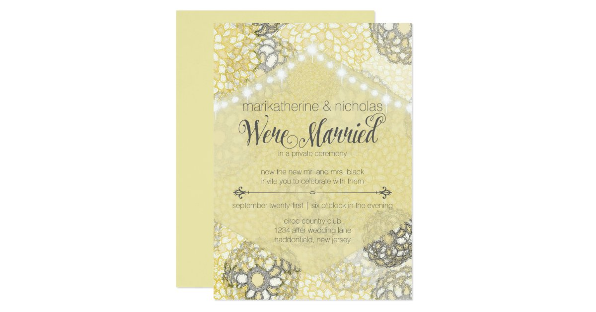 After Wedding Party Invitation: After Wedding Flowers & Lights Party Invitations