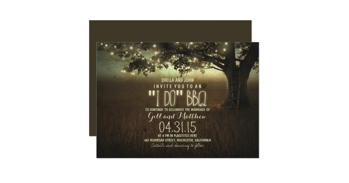 After Wedding Invitation Wording: After Wedding I Do Bbq Invitation