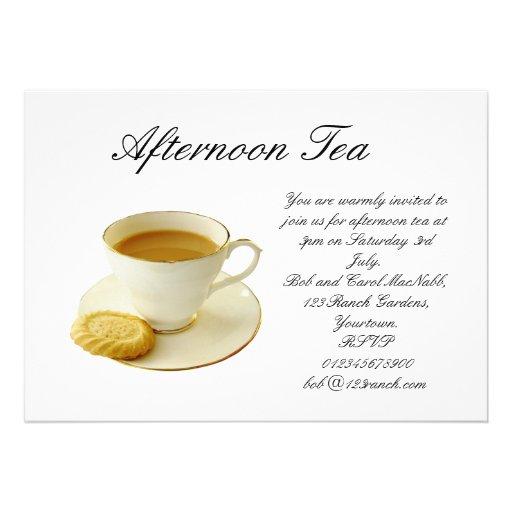 morning tea invitation template free - afternoon tea 13 cm x 18 cm invitation card zazzle