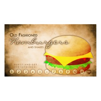 Invent me operation business cards for Frequent diner card template