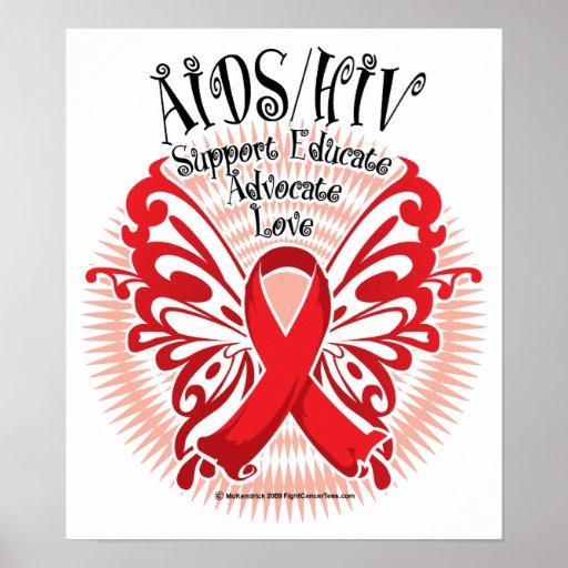 Aids Hiv Butterfly 3 Print Zazzle