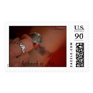 Airbrush Is Art - Postage Stamp by ArteKaos