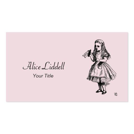 Disney Alice In Wonderland Business Card