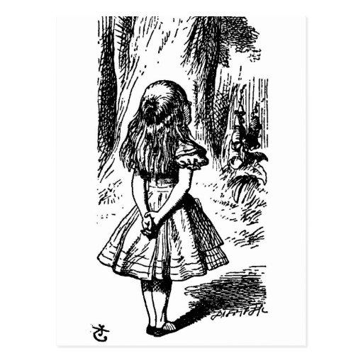 Alice in Wonderland - original illustration Postcard   Zazzle