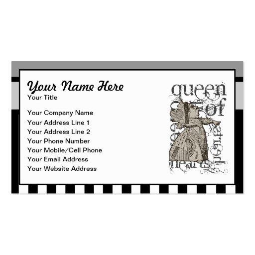 Alice In Wonderland Queen Of Hearts Grunge Business Card Templates