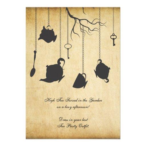 Alice In Wonderland Unbirthday Birthday Tea Party Custom Invite