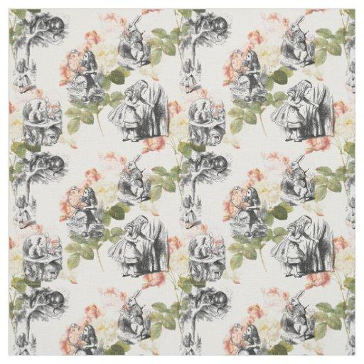 Vintage Alice In Wonderland Fabric 118