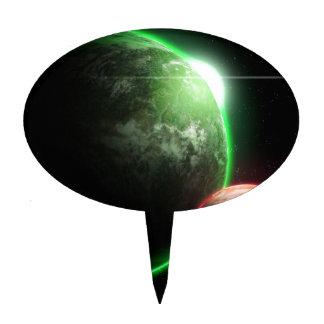 Alien planet's cake topper