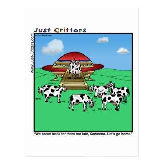 Aliens Cows Postcard