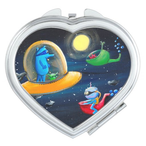 Aliens / Super Cool Kids Compact Mirror | Zazzle