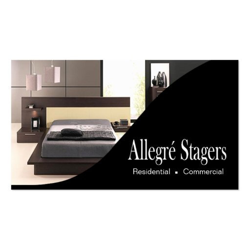 Interior Design Home Staging: Allegré Stagers Home Staging Interior Design Business Card