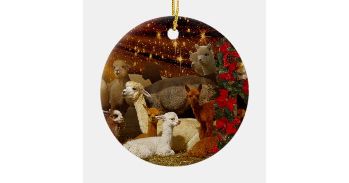 Alpaca Christmas Ornaments | Zazzle