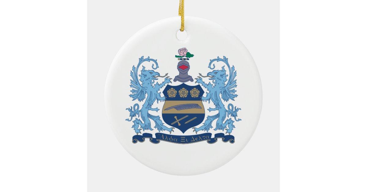 Alpha Xi Delta Crest Color Ceramic Ornament | Zazzle