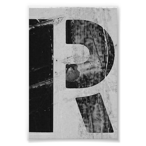 Alphabet Letter Photography R2 Black And White 4x6 Photo