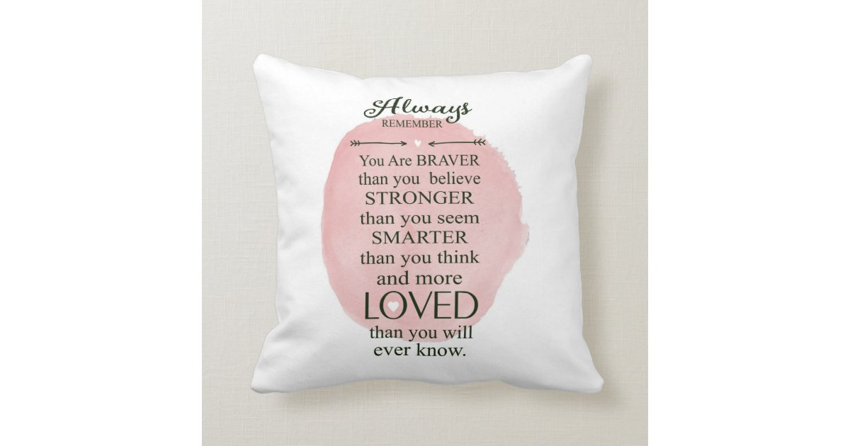 Always Remember You Are Loved: Always Remember You Are Loved More Than You Know Throw
